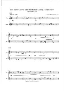 Haiti Disaster relief Concert (Dodo Titite) - 3rd movement - flute and guitar: Haiti Disaster relief Concert (Dodo Titite) - 3rd movement - flute and guitar by Robin Escovado