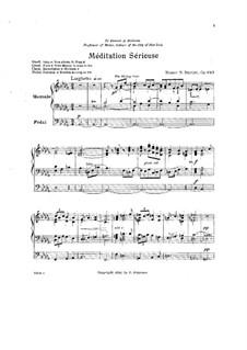 Ernsthaftе Meditation, Op.243: Ernsthaftе Meditation by Homer Newton Bartlett
