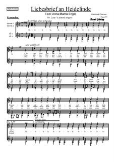 Nr.2: Liebesbrief an Heidelinde, Op.91: Für Frauenchor by Bernd Gehring