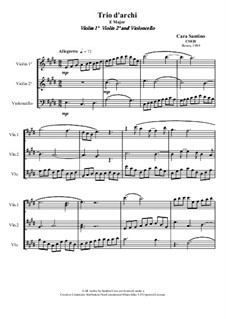 String Trio in E Major, CS020: String Trio in E Major by Santino Cara