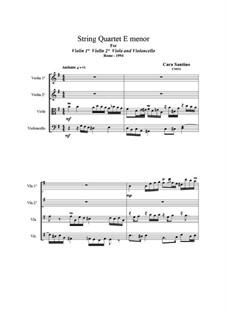 String Quartet in E minor, CS031: String Quartet in E minor, CS031 by Santino Cara
