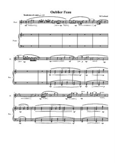 Duo No.15 for Flute and Piano, MVWV 660: Duo No.15 for Flute and Piano by Maurice Verheul