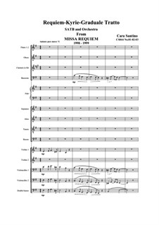 Missa requiem, CS044: No.01-02-03 Requiem, Kyrie, Graduale, Tratto by Santino Cara