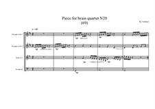 Piece for brass quartet No.20 (69), MVWV 124: Piece for brass quartet No.20 (69) by Maurice Verheul
