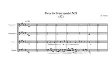 Piece for brass quartet No.21 (52), MVWV 125: Piece for brass quartet No.21 (52) by Maurice Verheul