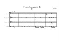 Piece for brass quartet No.26 (8), MVWV 130: Piece for brass quartet No.26 (8) by Maurice Verheul