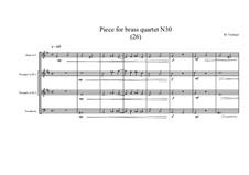 Piece for brass quartet No.30 (26), MVWV 134: Piece for brass quartet No.30 (26) by Maurice Verheul