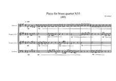 Piece for brass quartet No.33 (48), MVWV 137: Piece for brass quartet No.33 (48) by Maurice Verheul