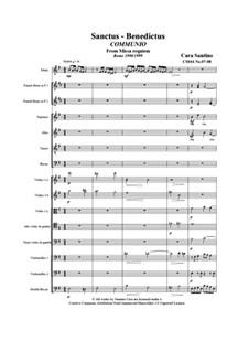 Missa requiem, CS044: No.07-08 Sanctus-Benedictus by Santino Cara