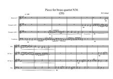 Piece for brass quartet No.36 (20), MVWV 140: Piece for brass quartet No.36 (20) by Maurice Verheul