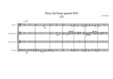 Piece for brass quartet No.43 (2), MVWV 147: Piece for brass quartet No.43 (2) by Maurice Verheul