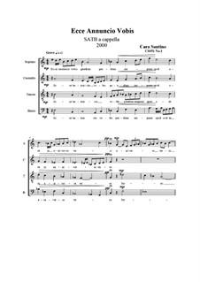 Ecce annuncio vobis, CS051 No.1: Ecce annuncio vobis by Santino Cara