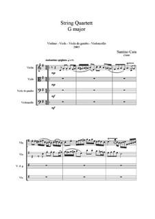 String Quartet in G major, CS060: String Quartet in G major by Santino Cara