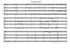 C'est de notre Dame. Choir piece on the lyrics of Rutebeuf, MVWV 42: C'est de notre Dame. Choir piece on the lyrics of Rutebeuf by Maurice Verheul