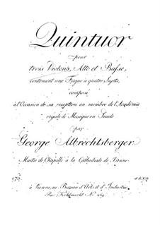 Streichquintett: Stimmen by Johann Georg Albrechtsberger