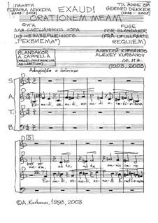 Exaudi orationem meam, Op.117: Exaudi orationem meam by Alexey E. Kurbanov
