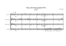 Piece for brass quartet No.70 (73), MVWV 173: Piece for brass quartet No.70 (73) by Maurice Verheul