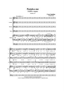 Postula a me. SABB and organ, CS124 No.4: Postula a me. SABB and organ by Santino Cara