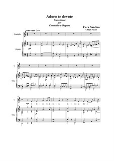 Adoro te devote. Contralto and organ, CS124 No.1B: Adoro te devote. Contralto and organ by Santino Cara