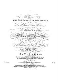 Variationen, Op.16: No.4 Variations sur 'Ah ! segnata é la mia morte' by Charles-Valentin Alkan