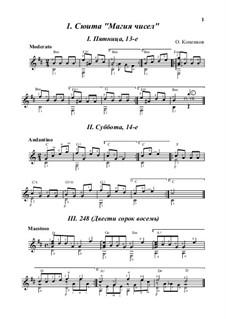 Suite 'Magic Numbers', Op.15: Vollsammlung by Oleg Kopenkov