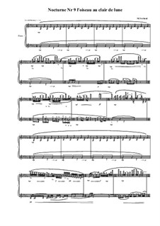 Nocturne No.9 for piano, MVWV 663: Nocturne No.9 for piano by Maurice Verheul