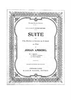 Suite für Flöte, Klarinette, Oboe und Klavier: Vollpartitur und Stimmen by Johan Amberg