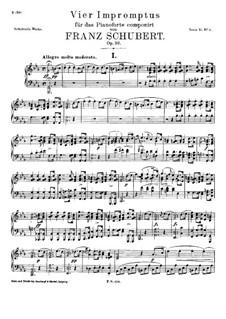 Vier Impromptus für Klavier, D.899 Op.90: Vollständiger Satz by Franz Schubert