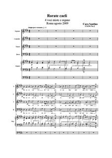 Rorate caeli: SATB and organ, CS154 No.2 by Santino Cara
