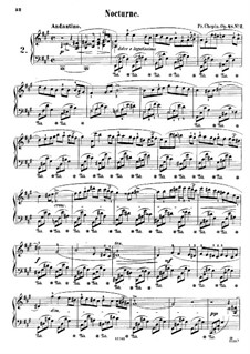 Nocturnen, Op.48: Nr.2 in fis-Moll by Frédéric Chopin