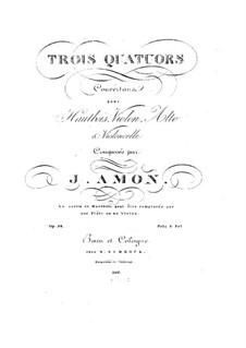 Drei Quartette für Oboe und Streicher, Op.92: Drei Quartette für Oboe und Streicher by Johann Andreas Amon