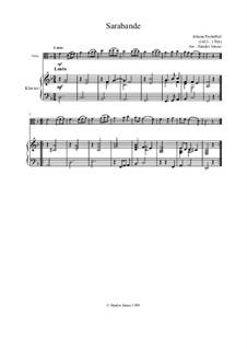 Sarabande in d-Moll: Sarabande in d-Moll by Johann Pachelbel