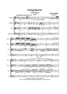 String quartet No.1 in E flat major, CS168 No.1: String quartet No.1 in E flat major by Santino Cara