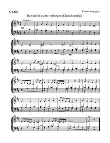Herr, dir ist nichts verborgen (Choralvorspiel): Herr, dir ist nichts verborgen (Choralvorspiel) by Roman Jungegger