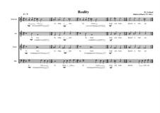 Reality a Choir piece on the lyrics of Rabia al Basri, MVWV 669: Reality a Choir piece on the lyrics of Rabia al Basri by Maurice Verheul