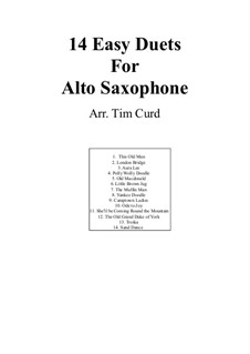 Vierzehn leichte Duos: For two saxophones by Ludwig van Beethoven, Stephen Foster, folklore, Unknown (works before 1850)