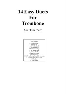 Vierzehn leichte Duos: For two trombone by Ludwig van Beethoven, Stephen Foster, folklore, Unknown (works before 1850)