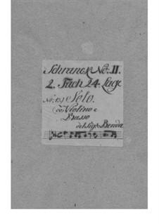 Sonate für Violine und Basso Continuo in Es-Dur, L III:145: Sonate für Violine und Basso Continuo in Es-Dur, L III:145 by Franz Benda
