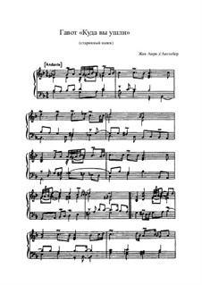 Suite in g-Moll: Gavotte 'Ou estes vous alles' by Jean-Henri d'Anglebert