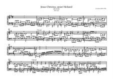 Choralvorspiele III (Leipziger Choräle): Jesus Christus, unser Heiland, BWV 666 by Johann Sebastian Bach