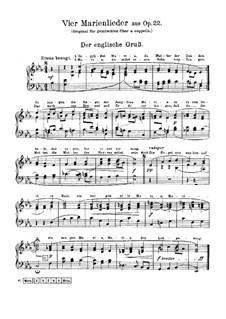 Marienlieder, Op.22: Nr.1-3, 7 by Johannes Brahms