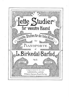 Leichte Etüden für die linke Hand, Op.15: Für Klavier by Ludvig Birkedal-Barfod