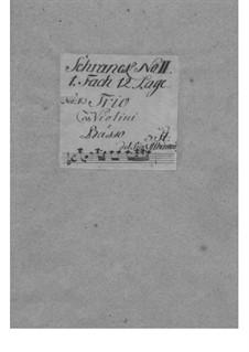 Dodici balletti a tre, Op.3: Nr.1 in C-Dur – Stimmen by Tomaso Albinoni