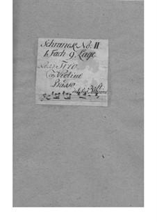 Dodici balletti a tre, Op.3: Nr.10 in E-Dur – Stimmen by Tomaso Albinoni