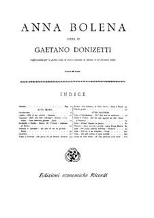 Anna Bolena: Für Klavier by Gaetano Donizetti
