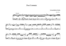 Post comunio für orgel: Post comunio für orgel by Giovanni Battista Martini