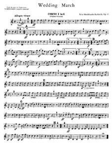 Hochzeitsmarsch: Hörnerstimmen by Felix Mendelssohn-Bartholdy