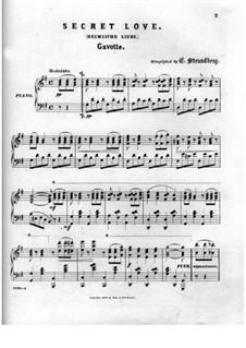Heimliche Liebe. Gavotte: Für Klavier by Johann Resch