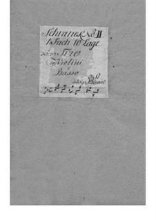Dodici balletti a tre, Op.3: Nr.12 in B-Dur – Stimmen by Tomaso Albinoni