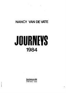 Journeys: Vollpartitur by Nancy Van de Vate